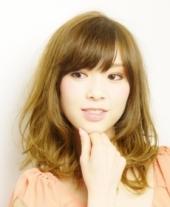 パーマ~愛される♪sweet☆セミディスタイル   透明感のあるゴールドベージュのカ...